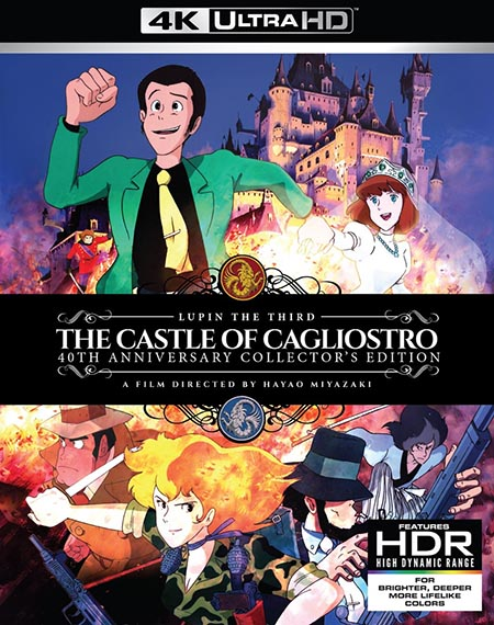 Lupin The 3rd The Castle of Cagliostro Collectors Edition 4K HDR (D) Blu-ray
